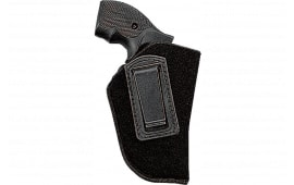 """Uncle Mikes 8900 Inside the Pants Open Style Holster Left Hand 2-3"""" Barrel Small/Medium Double Action Revolver Suede Black"""