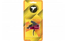 Timney Triggers 662S AR Targa 2-Stage Short Curved Trigger Steel w/Aluminum Housing Black/Red