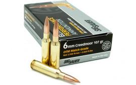 Sig Sauer E6MMCM2-20 6mm Creedmoor 107 OTM MTCH - 20rd Box
