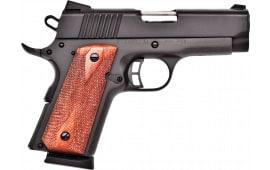 "Citadel CIT9MMCSP M-1911 Compact Single 3.5"" 7+1 Wood Grip Black"