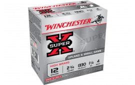 """Winchester Ammo X124 Super-X High Brass 12GA 2.75"""" 1 1/4oz #4 Shot - 25sh Box"""