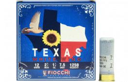"Fiocchi 12TWW187 Texas White Wing Dove Loads 12GA 2.75"" 1 1/8oz #7.5 Shot - 25sh Box"