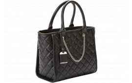 Bdog BDP-058 Tote Quilted NYL Purse HLSTR Black