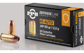 PPU PPD45 45 ACP 185 Jacketed Hollow Point - 50rd Box