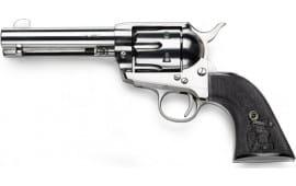 International Firearms SA731125BEA 1873 SA 4.75 NKL Frame Black Poly Grips Revolver