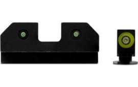 XS Sights GL-R012P-6G RAM 3 Dot Glock 17/19 Green
