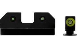 XS Sights GL-R014P-6G RAM 3 Dot Glock 42/43 Green