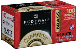Federal WM52331 45 Brass 230 FMJ 100/5