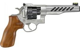 "Ruger 5066 Super GP100 6"" Hogue Wood SS Revolver"
