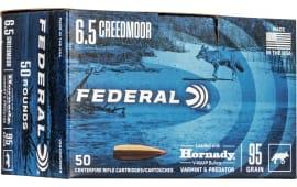 Federal V65CRDVM95B 6.5 Creedmoor 95 Hornady *BULK* - 50rd Box