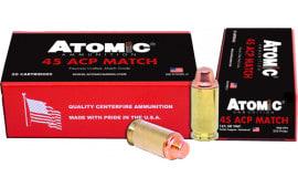 Atomic 00448 45 ACP Match 185 SWC TCP - 50rd Box