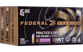 Federal P45HST2TM100 45 230 PRT/DFND 100/5 - 100rd Box