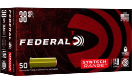 Federal AE38SJ1 38SP 148 Synthetic JWC - 50rd Box