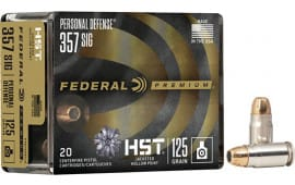 Federal P357SHST1S 357SIG 125 HST Jacketed Hollow Point - 20rd Box
