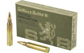 Sellier & Bellot SB556A 5.56X45 M193 55 FMJ 20/50 - 20rd Box