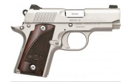 "Kimber Micro 9mm Handgun 3.15"" Barrel Stainless 7 Round - KIM3300158"