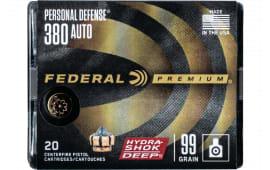 Federal P380HSD1 380 99 HS Deep - 20rd Box