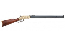 """Taylors and Company 552883A 1860 Henry Lever Action Lever 24.25"""" 13+1 Walnut Stock Brass Engraved Receiver Blued"""