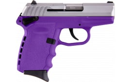 "Sccy Industries CPX1TTPU CPX-1 Double 3.1"" 10+1 Purple Polymer Grip/Frame Grip Stainless Steel"