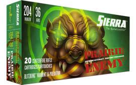 Sierra A103611 204 RUG 36 Blitzking - 20rd Box