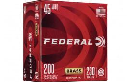 Federal WM52332 45 Brass 230 FMJ - 200rd Box
