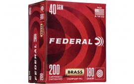 Federal WM52231 40 Brass 180 FMJ - 100rd Box