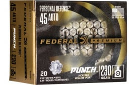 Federal PD45P1 45 230 Punch Jacketed Hollow Point - 20rd Box
