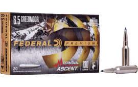 Federal P65CRDTA1 6.5 Creedmoor 130 Term Ascent - 20rd Box