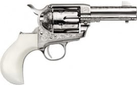 "Cimarron PP346DOCENG DOC Holliday .45LC 3.5"" 6rd Nickel Engraved B-HEAD Revolver"
