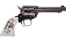 "Heritage Arms HTG RR22B4PINUP3 .22LR 4.75"" FS Blued Pinup Miss B. HAV'IN (TALO) Revolver"