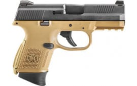 FN 66100355 FNS9C NMS 10rd FDE/Black