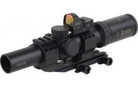 Burris 200437FF Mtac 1-4x 24mm Obj 100-32 ft @ 100 yds FOV 30mm Tube Dia Black Matte Illuminated Ballistic CQ 5.56