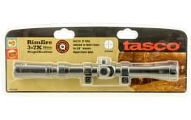 """Tasco RF37X20D Rimfire 3-7x 20mm Obj 24-11 ft @ 100 yds FOV .75"""" Tube Dia Black Matte 30/30 TV"""