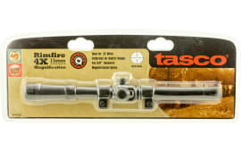 """Tasco RF4X15 Rimfire 4x 15mm Obj 20.5 ft @ 100 yds FOV .75"""" Tube Dia Black Matte Crosshair"""