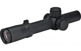 Weaver Optics 800364 Tactical 1-5x 24mm Obj 100-19.9 ft @ 100 yds FOV 30mm Tube Dia Black Matte Circle-Dot