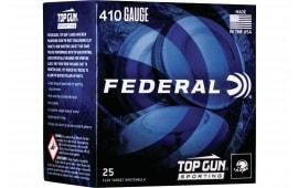 "Federal TGS412148 Top Gun Sporting 410GA 2.75"" 1/2oz #8 Shot - 25sh Box"