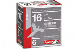 """Aguila 1CHB1606 Field 16GA 2.75"""" 1 1/8oz #6 Shot - 25sh Box"""
