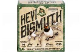 HEVI-Shot 16706 Bismuth WF 16 2.75 6 11/8 - 25sh Box