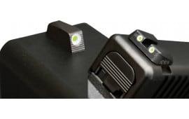 Hiviz MPSN121 Tritium Nitesight Set S&W M&P Shield 9mm/40 S&W Green w/White