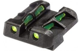 Hiviz GLLW19 LiteWave Glock Glock 10mm/45ACP/45GAP Steel Green Black