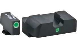 AmeriGlo GL101 i-Dot NS For Glock 17,19,22-24,26,27,33-35,38,39 Tritium F/R Grn