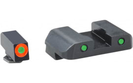 AmeriGlo GL448 Spartan Operator Night Sights Glock 20/21/29/30/31/32/36/40/41 Tritium/Paint Green w/Orange Outline Tritium/Paint Green w/Black Outline Black