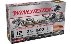 Winchester Ammo X12DSLF Deer XP CP Impct Sabot Slug - 5sh Box