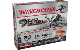 Winchester Ammo X20DSLF Deer XP CP Impct Sabot Slug - 5sh Box