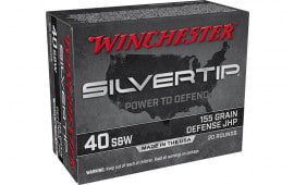 Winchester Ammo W40SWST 40S 155 STHP - 20rd Box