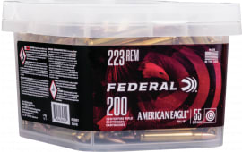 Federal AE223BUK1 223 55 FMJ Boat Tail Bucket - 200rd Box