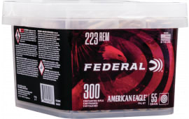 Federal AE223BUK 223 55 FMJ Boat Tail Bucket - 300rd Box