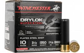 "Winchester Ammo XSC10BBB Drylock Super Steel Magnum 10GA 3.5"" 1 5/8oz BBB Shot - 25sh Box"