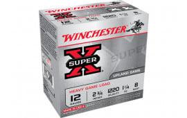 "Winchester Ammo XU12SP8 Super-X Heavy Game Load 12GA 2.75"" 1 1/4oz #8 Shot - 25sh Box"