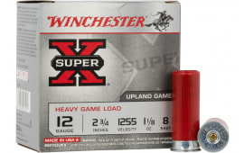 "Winchester Ammo XU12H8 Super-X Heavy Game Load 12GA 2.75"" 1 1/8oz #8 Shot - 25sh Box"